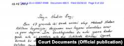 Hakan Atilla'nın teyzesi tarafından yazılan mektup