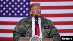 دونالدترمپ، رئیس جمهور امریکا در نخستین سفرش به عراق