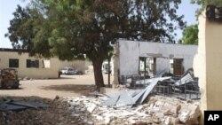 지난 달 나이지리아 다마투루에서 테러로 파괴된 초등학교. (자료사진)
