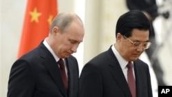 Владимир Путин и Ху Цзиньтао