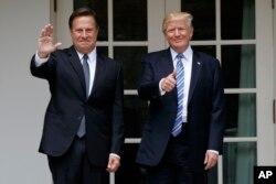 Presidentes de Panamá, José Luis Varela y Estados Unidos Donald Trump.