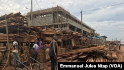 Le parc à bois du quartier Manguier à Yaoundé, le 5 novembre 2018. (VOA/Emmanuel Jules Ntap)