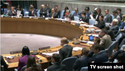 유엔 안보리가 23일 대량살상무기 확산 방지에 관한 공개 토론회를 진행하고 있다.