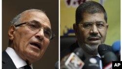 Hai ứng cử viên Ahmed Shafig và Mohammed Morsi sẽ dự tranh cuộc bầu cử tổng thống Ai Cập vòng 2 được tổ chức vào giữa tháng 6