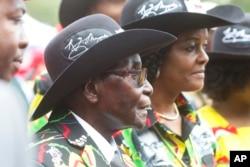 Umongameli Robert Mugabe lomkakhe, uGrace Mugabe.