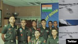 بھارتی فوج کے شعبہء تعلقات عامہ کی طعرف سے سوشل میڈیا پر جاری کی جانے والی تصاویر