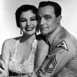 "Cyd Charisse and Gene Kelly combined their singing and dancing talents in the movie ""It's Always Fair Weather"""