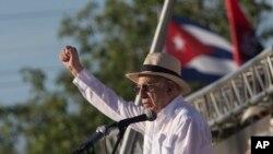 El vicepresidente José Ramón Machado Ventura, pronunció el discurso de honor en las celebraciones a las que asistió el presidente Raúl Castro.