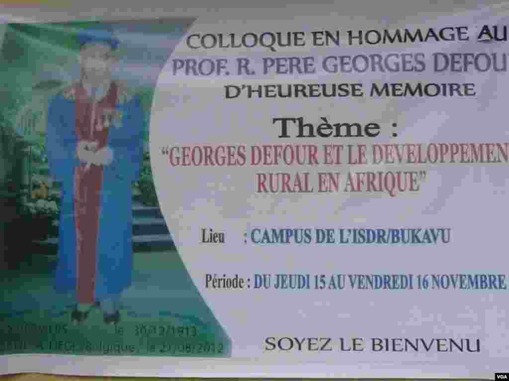 In memoriam pere Georges Defour(Jkam, Goma, Bukavu)