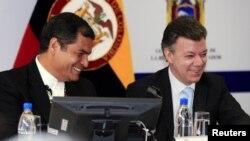 Los dos mandatarios reconocieron el buen clima en las relaciones de los dos países.