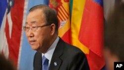 반기문 유엔 사무총장이 지난 9월 뉴욕 유엔본부에서 기자회견을 열고 북한이 실시한 핵실험을 강력히 비난했다.