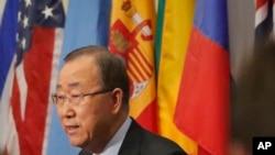 반기문 유엔 사무총장이 지난 9월9일 뉴욕 유엔본부에서 기자회견을 열고 이 날 북한이 실시한 핵실험을 강력히 비난했다.