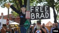 Manifestations en faveur de Manning