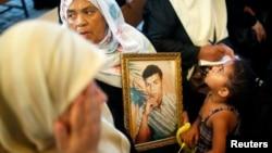 2013年9月2日巴勒斯坦人加沙集会要求以色列释放巴勒斯坦囚犯 (资料照片)