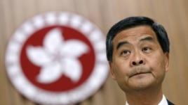 Hong Kong Chief Executive Leung Chun-ying attends a news conference at the government headquarters in Hong Kong, September 7, 2012.