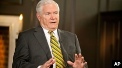 FILE - Former U.S. defense secretary Robert Gates.