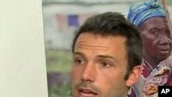 L'acteur américain Ben Affleck, fondateur du projet Eastern Congo Initiative