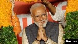 وزیر اعظم نریندر مودی نے انتخابات میں کامیابی کو عوام کے نام کیا تھا۔