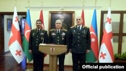 Azərbaycan, Türkiyə və Gürcüstan Silahlı Qüvvələri rəhbərlərinin görüşü