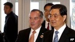 چینی صدر دورہ امریکہ کے آخری مرحلے میں شکاگو پہنچ گئے