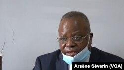 Mathias Dzon, nouveau candidat à la présidentielle de 2021, le 29 août 2020, à Brazzaville. (VOA/Arsène Séverin)