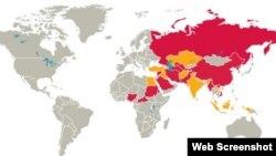 گزارش سال ٢٠١٩ کمیسیون نظارتی ایالات متحده در امور آزادی مذاهب در جهان