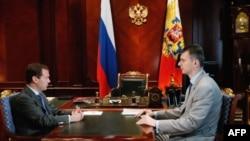 Дмитрий Медведев и Михаил Прохоров