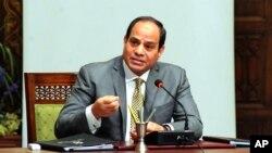 Presiden Mesir Abdel Fattah el-Sissi di Kairo, Mesir, 13 April 2016. (Foto: dok).