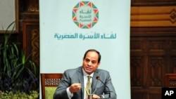Abdel-Fattah el-Sissi, Le Caire, Egypte, le 13 avril 2016.(Mohammed Samaha/Egyptian Presidency via AP)