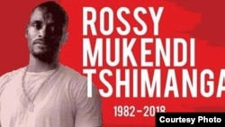 Photo de Rossy Mukendi relayée sur les réseaux sociaux pour lui rendre hommage.