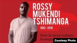 La photo de Rossy Mukendi relayée sur les réseaux sociaux pour lui rendre hommage.