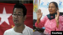 NLD အမ်ိဳးသား ဒီမိုကေရစီအဖြဲ႕ခ်ဳပ္ကိုယ္စားလွယ္အျဖစ္ ဝင္ေရာက္ယွဥ္ၿပိဳင္ခဲ့တဲ့ အစၥလာမ္ဘာသာဝင္ အမတ္ေလာင္းႏွစ္ဦး ကိုစည္သူေမာင္ ႏွင့္ ေဒၚ၀င္းျမျမ (ဓါတ္ပံု credit-AFP နွင့္ DualArts Press Blog)