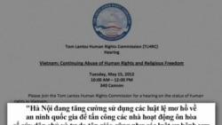 Điều trần về tình hình nhân quyền VN sắp diễn ra tại Quốc hội Mỹ