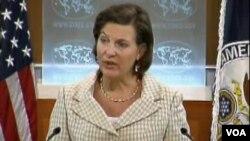 Juru Bicara Departemen Luar Negeri AS, Victoria Nuland (foto: dok). Deplu Amerika telah menerima tuntutan Mesir atas 19 warga AS yang dituduh melakukan kegiatan terlarang di Mesir.