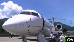 中国富豪的私人飞机(视频截图)