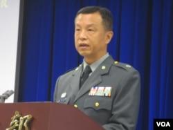 台湾国防部发言人陈中吉少将