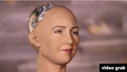 Sophia is a talking robot that can imitate 62 human facial expressions. (CNBC)