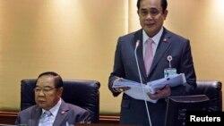 ထိုင္းဝန္ႀကီးခ်ဳပ္ Prayuth Chan-ochaနဲ႔ ဒုတိယဝန္ႀကီးခ်ဳပ္ Prawit Wongsuwan။
