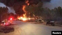 阿拉巴马州谢尔比郡油管爆炸现场