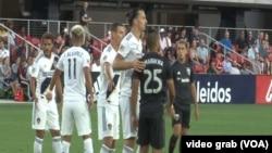 Zlatan Ibrahimović tokom meča protiv Di-Si Junajteda u Vašingtonu