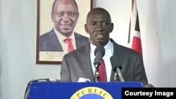 Umuvugizi wa Leta ya Kenya Cyrus Oguna. Yavuze ko Kenya na Somalia bari mu biganiro