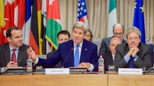 U.S. Secretary of State John Kerry on Feb. 2, 2016, at the outset of a meeting of the multinational counter-ISIL coalition.