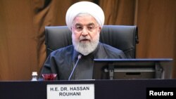 Tổng thống Iran Hassan Rouhani phát biểu tại Hội nghị Thượng đỉnh Kuala Lumpur, Malaysia, ngày 19/12/2019.