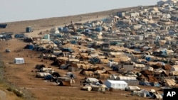 位於敘利亞和土耳其邊境的難民營地