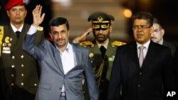 베네수엘라에 도착한 마흐무드 아마디네자드 이란 대통령