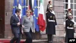Николя Саркози и Ангела Меркель. Страсбург. 24 ноября 2011 г.