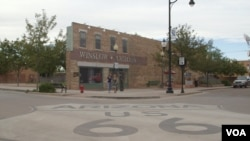 Winslow, Arizona corner made famous by 1972 song, 'Take It Easy.'