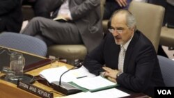 Duta Besar Suriah untuk PBB Bashar Ja'afari (Foto: dok).