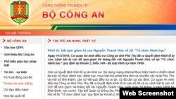 Thông báo của Bộ Công an về vụ bắt tướng Nguyễn Văn Hóa