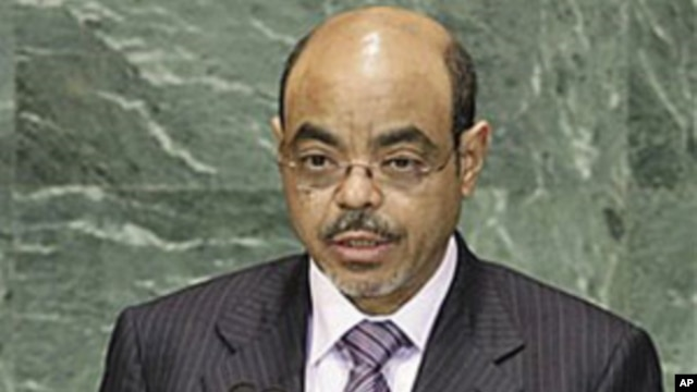 Ethiopia's Prime Minister Meles Zenawi addresses a summit on the Millennium Development Goals at United Nations headquarters (file photo - 21 Sep 2010)
